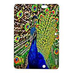 Graphic Painting Of A Peacock Kindle Fire Hdx 8 9  Hardshell Case by Simbadda