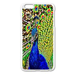Graphic Painting Of A Peacock Apple Iphone 6 Plus/6s Plus Enamel White Case by Simbadda