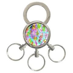 Bright Rainbow Background 3-Ring Key Chains by Simbadda
