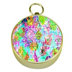 Bright Rainbow Background Gold Compasses by Simbadda