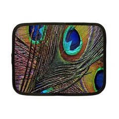 Peacock Feathers Netbook Case (small)  by Simbadda