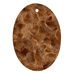Brown Seamless Animal Fur Pattern Ornament (oval) by Simbadda