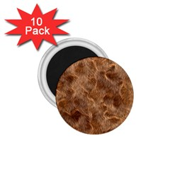 Brown Seamless Animal Fur Pattern 1 75  Magnets (10 Pack)  by Simbadda