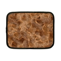 Brown Seamless Animal Fur Pattern Netbook Case (small)  by Simbadda
