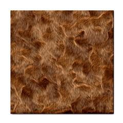 Brown Seamless Animal Fur Pattern Face Towel