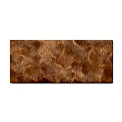 Brown Seamless Animal Fur Pattern Cosmetic Storage Cases by Simbadda