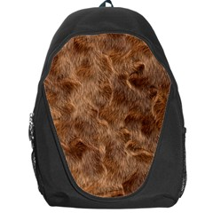 Brown Seamless Animal Fur Pattern Backpack Bag by Simbadda