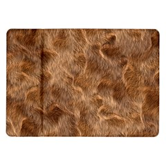 Brown Seamless Animal Fur Pattern Samsung Galaxy Tab 10 1  P7500 Flip Case by Simbadda