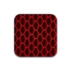 Snake Abstract Pattern Rubber Coaster (square)  by Simbadda