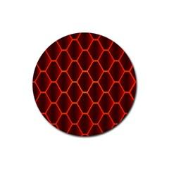 Snake Abstract Pattern Rubber Coaster (round)  by Simbadda