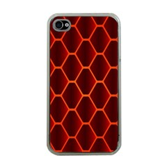 Snake Abstract Pattern Apple Iphone 4 Case (clear) by Simbadda