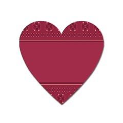 Heart Pattern Background In Dark Pink Heart Magnet by Simbadda