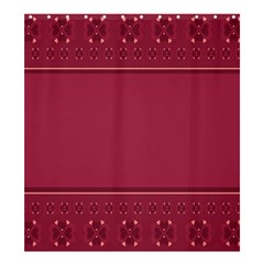 Heart Pattern Background In Dark Pink Shower Curtain 66  X 72  (large)  by Simbadda