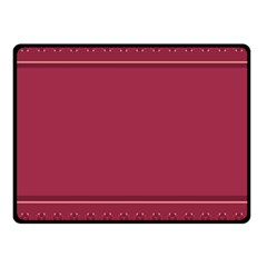 Heart Pattern Background In Dark Pink Fleece Blanket (small) by Simbadda