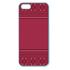 Heart Pattern Background In Dark Pink Apple Seamless Iphone 5 Case (color) by Simbadda