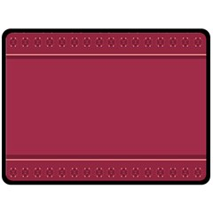 Heart Pattern Background In Dark Pink Double Sided Fleece Blanket (large)  by Simbadda