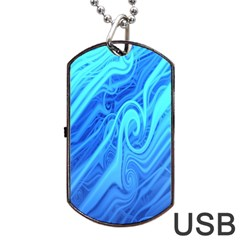 Vintage Pattern Background Wallpaper Dog Tag Usb Flash (one Side) by Simbadda