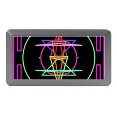 Drawing Of A Color Mandala On Black Memory Card Reader (mini) by Simbadda