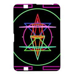 Drawing Of A Color Mandala On Black Kindle Fire Hd 8 9  by Simbadda