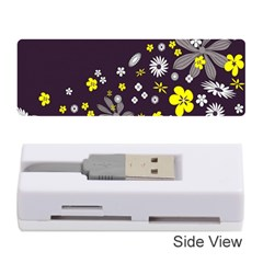 Vintage Retro Floral Flowers Wallpaper Pattern Background Memory Card Reader (stick)  by Simbadda