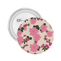 Vintage Floral Wallpaper Background In Shades Of Pink 2.25  Buttons by Simbadda