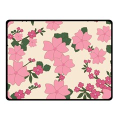 Vintage Floral Wallpaper Background In Shades Of Pink Fleece Blanket (small) by Simbadda