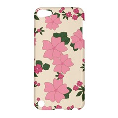 Vintage Floral Wallpaper Background In Shades Of Pink Apple Ipod Touch 5 Hardshell Case by Simbadda