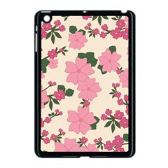 Vintage Floral Wallpaper Background In Shades Of Pink Apple Ipad Mini Case (black) by Simbadda