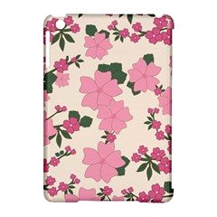 Vintage Floral Wallpaper Background In Shades Of Pink Apple Ipad Mini Hardshell Case (compatible With Smart Cover) by Simbadda