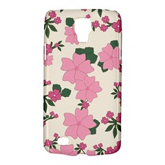 Vintage Floral Wallpaper Background In Shades Of Pink Galaxy S4 Active by Simbadda