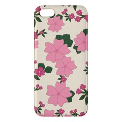 Vintage Floral Wallpaper Background In Shades Of Pink Iphone 5s/ Se Premium Hardshell Case by Simbadda