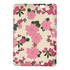 Vintage Floral Wallpaper Background In Shades Of Pink Kindle Fire Hdx 8 9  Hardshell Case by Simbadda