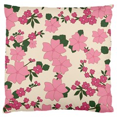 Vintage Floral Wallpaper Background In Shades Of Pink Standard Flano Cushion Case (two Sides) by Simbadda