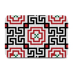 Vintage Style Seamless Black White And Red Tile Pattern Wallpaper Background Plate Mats by Simbadda