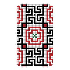 Vintage Style Seamless Black White And Red Tile Pattern Wallpaper Background Memory Card Reader