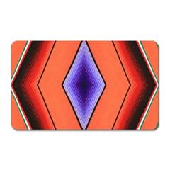 Diamond Shape Lines & Pattern Magnet (rectangular) by Simbadda