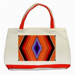 Diamond Shape Lines & Pattern Classic Tote Bag (red) by Simbadda