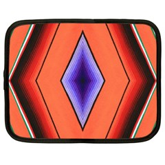 Diamond Shape Lines & Pattern Netbook Case (XL)  by Simbadda