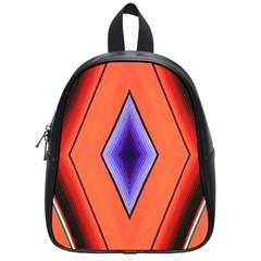 Diamond Shape Lines & Pattern School Bags (small)  by Simbadda