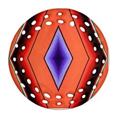 Diamond Shape Lines & Pattern Ornament (round Filigree) by Simbadda