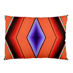 Diamond Shape Lines & Pattern Pillow Case (two Sides) by Simbadda