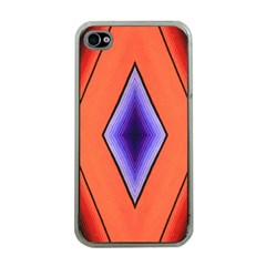 Diamond Shape Lines & Pattern Apple Iphone 4 Case (clear) by Simbadda