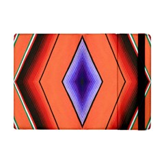Diamond Shape Lines & Pattern Apple Ipad Mini Flip Case by Simbadda