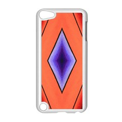 Diamond Shape Lines & Pattern Apple Ipod Touch 5 Case (white) by Simbadda
