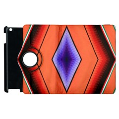 Diamond Shape Lines & Pattern Apple Ipad 3/4 Flip 360 Case by Simbadda