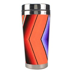 Diamond Shape Lines & Pattern Stainless Steel Travel Tumblers by Simbadda