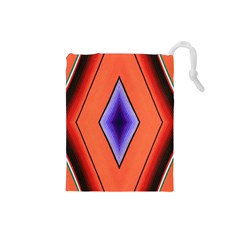 Diamond Shape Lines & Pattern Drawstring Pouches (small)  by Simbadda