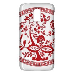 Red Vintage Floral Flowers Decorative Pattern Galaxy S5 Mini by Simbadda