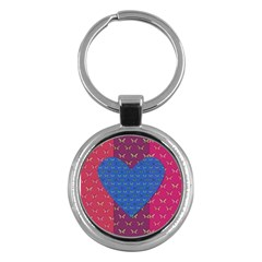Butterfly Heart Pattern Key Chains (Round)  by Simbadda