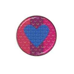 Butterfly Heart Pattern Hat Clip Ball Marker (10 Pack) by Simbadda